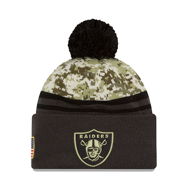 Accesorios New Era Salute to Service Raiders Knit