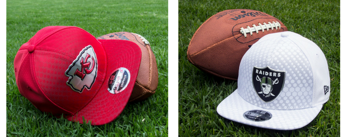 Gorras NFL: Kansas City Chiefs vs Oakland Raiders