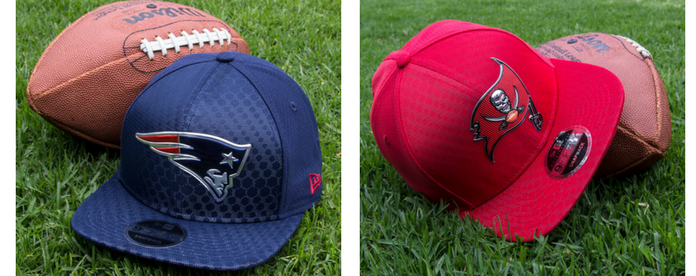 Gorras de NFL Color Rush: New England Patriots y Tampa Bay Buccaneers