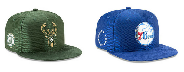 Gorras New Era NBA On Court Milwaukee Bucs – Philadelphia 76ers