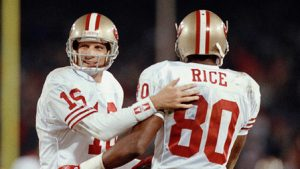 San Francisco 49ers Montana Rice