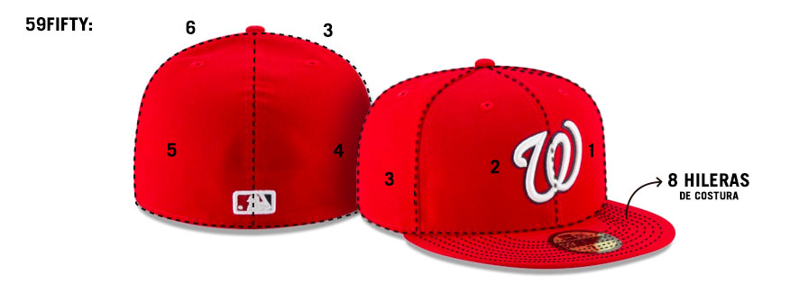 Conoce las siluetas New Era: 59FIFTY
