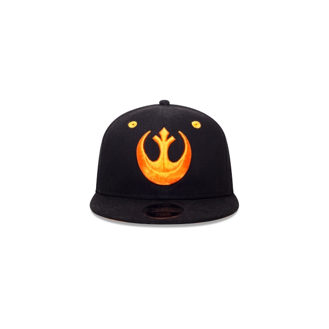 Rebel Logo Star Wars Niño 9Fifty OF Snapback Vista frontal