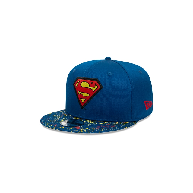 Superman Paint Splat Visor 9FIFTY Snapback Para Niña O Niño Ss21 | Gorras Kids Paint Splat Visor | New Era México