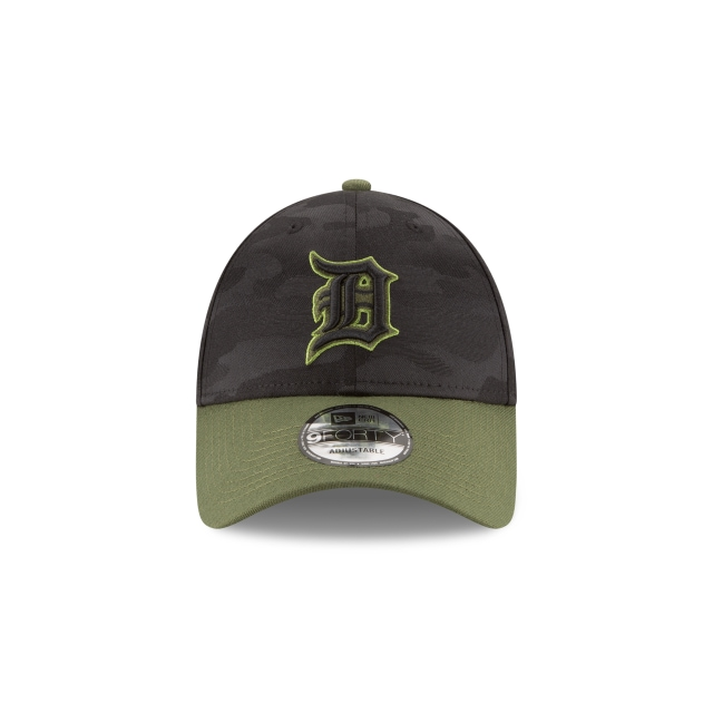 Detroit Tigers Memorial Day  9Forty Strapback Vista frontal