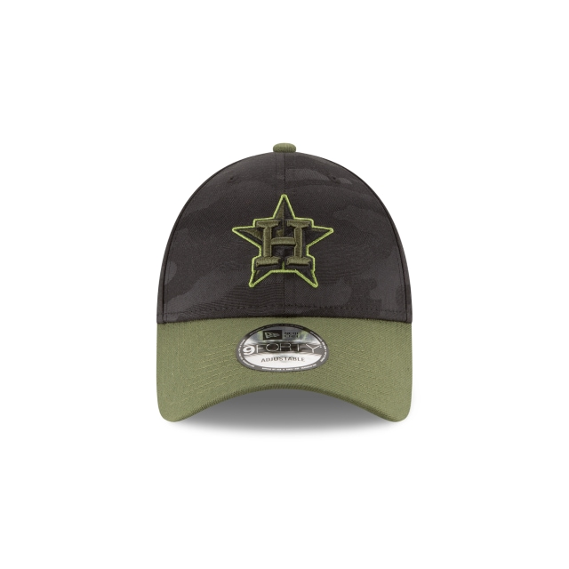 Houston Astros Memorial Day  9Forty Strapback Vista frontal