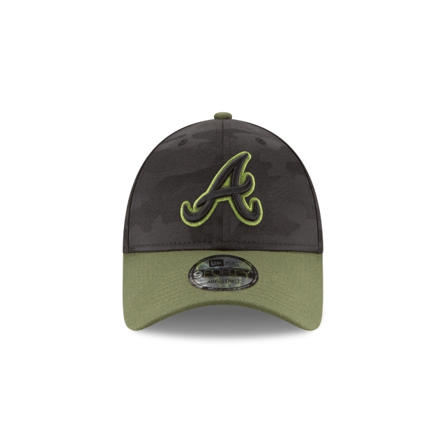 Atlanta Braves Memorial Day  9Forty Strapback Vista frontal