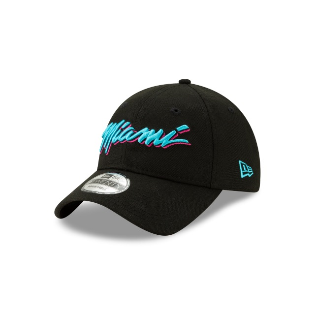 Miami Heat Nba City Series 2018  9twenty Strapback | Miami Heat Caps | New Era Cap
