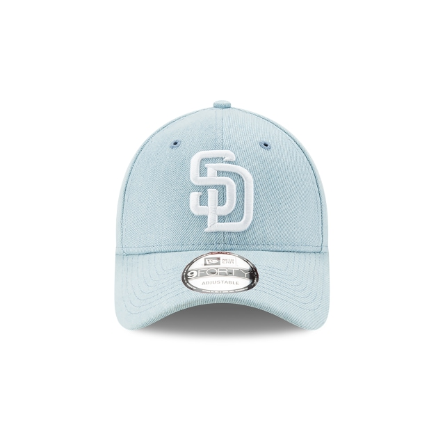 San Diego Padres Denim Dark  9Forty Strapback Vista frontal