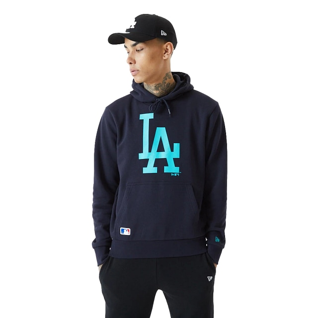 Sudadera Los Angeles Dodgers MLB Seasonal Navy French Terry Brushed Back Fleece Spring21 | Los Angeles Dodgers MLB Seasonal | New Era México