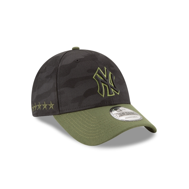 New York Yankees Memorial Day  9Forty Strapback Vista derecha tres cuartos