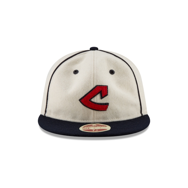 Cleveland Indians Injection Pack Melton Retro  59Fifty Cerrada Vista frontal