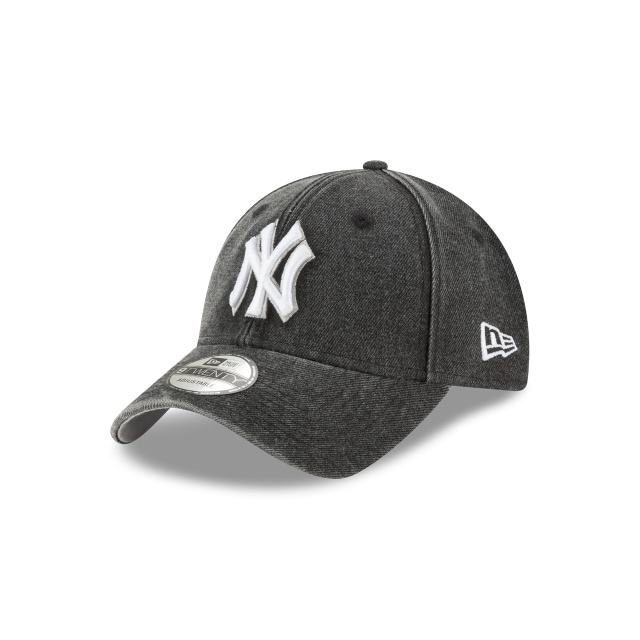 New York Yankees Rugged Heather  9Twenty Strapback Vista izquierda tres cuartos