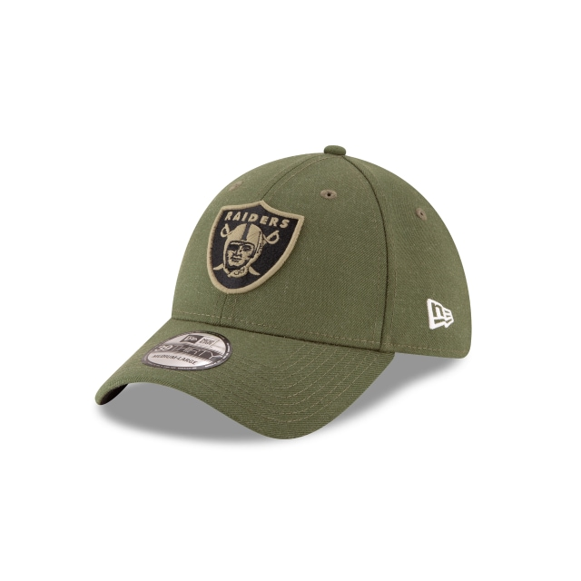 Oakland Raiders Nfl Salute To Service 2018  39thirty Elástica | Oakland Raiders Caps | New Era Cap