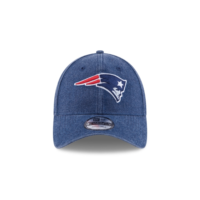 New England Patriots Rugged Heather  9Twenty Strapback Vista frontal