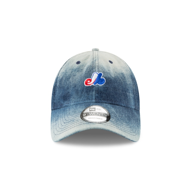 Montreal Expos Denim Wash Out  9Twenty Strapback Vista frontal
