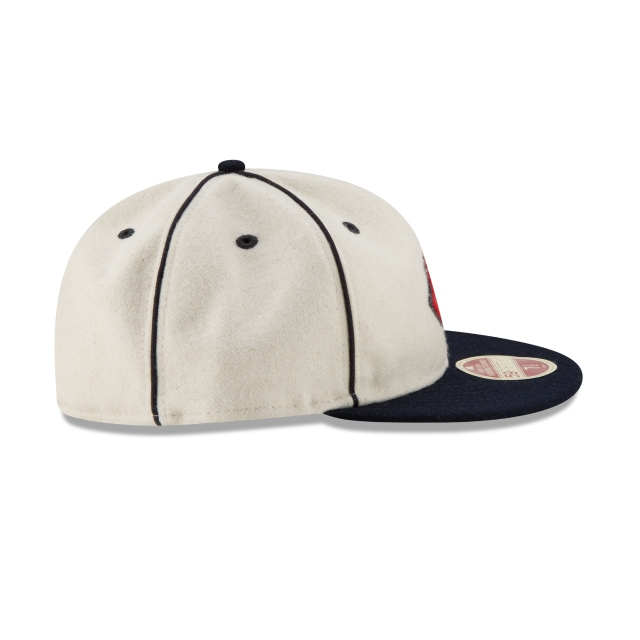 Cleveland Indians Injection Pack Melton Retro  59Fifty Cerrada Vista derecha