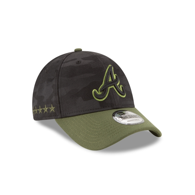Atlanta Braves Memorial Day  9Forty Strapback Vista derecha tres cuartos