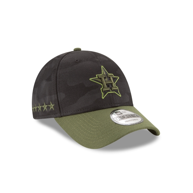 Houston Astros Memorial Day  9Forty Strapback Vista derecha tres cuartos
