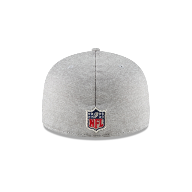 Los Angeles Chargers NFL Sideline Attack 59Fifty Cerrada Vista trasera