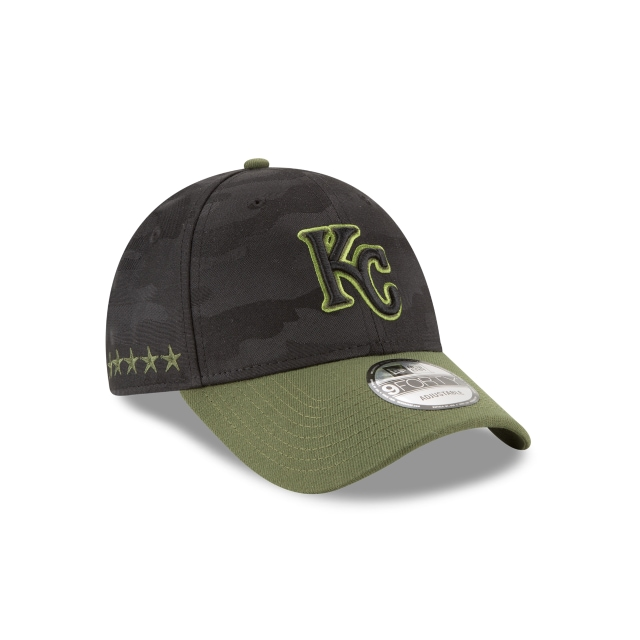 Kansas City Royals Memorial Day  9Forty Strapback Vista derecha tres cuartos