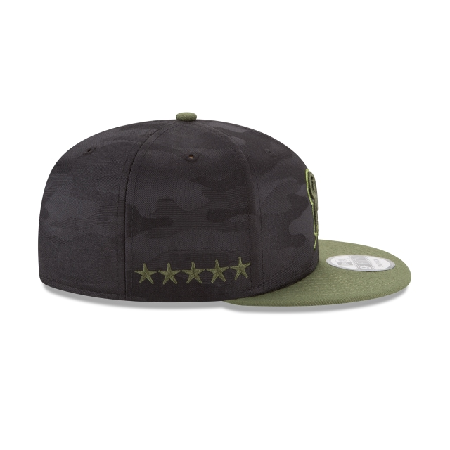 Milwaukee Brewers Memorial Day  9Fifty Snapback Vista derecha