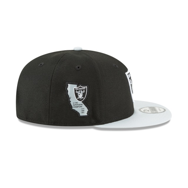 Oakland Raiders Side Stated  9fifty Snapback | Oakland Raiders Caps | New Era Cap