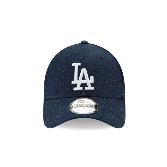 Los Angeles Dodgers Denim Dark  9Forty Strapback Vista frontal