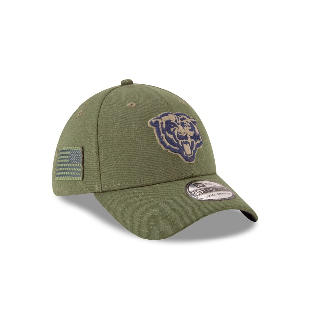 Chicago Bears Nfl Salute To Service 2018  39thirty Elástica | Chicago Bears Caps | New Era Cap