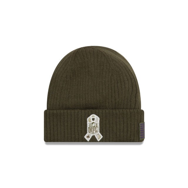 Minnesota Vikings Nfl Salute To Service 2018  Knit | Minnesota Vikings Caps | New Era Cap