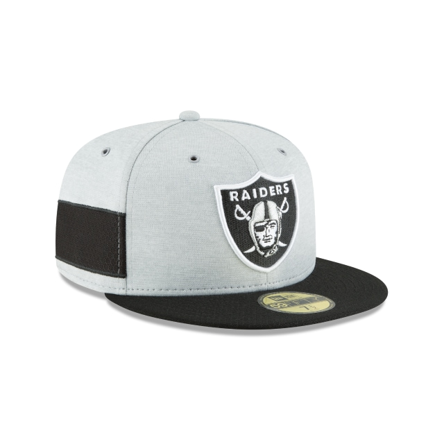 Oakland Raiders Nfl Sideline Defend 2018  59fifty Cerrada | Oakland Raiders Caps | New Era Cap
