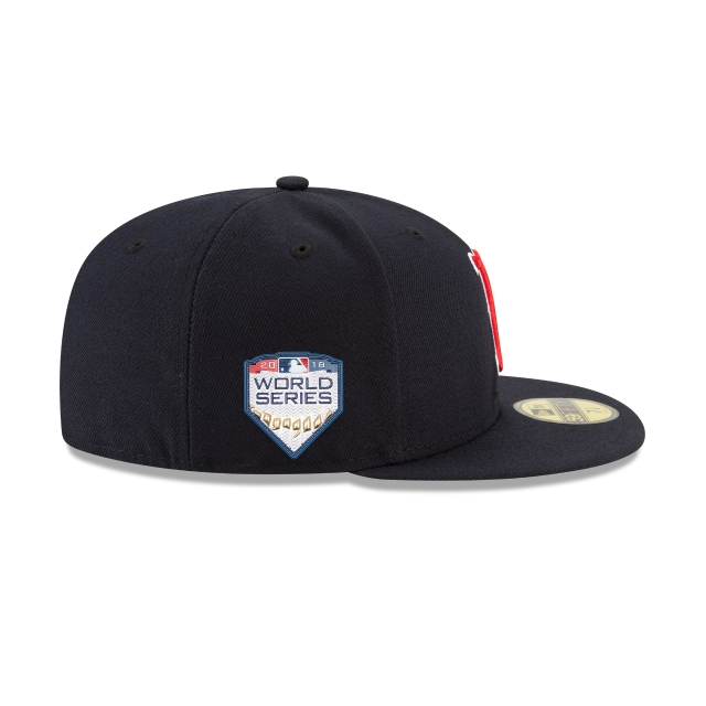 Boston Red Sox MLB Authentic Collection Parche Serie Mundial 2018 59Fifty Cerrada Vista derecha