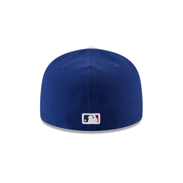 Los Angeles Dodgers Authentic Collection Parche Postseason 2018 59Fifty Cerrada Vista trasera