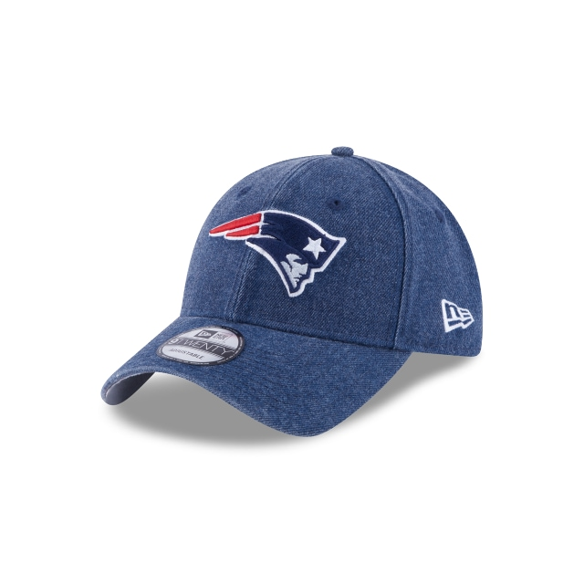 New England Patriots Rugged Heather  9Twenty Strapback Vista izquierda tres cuartos