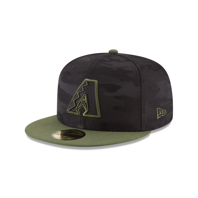 Arizona Diamondbacks Memorial Day  59Fifty Cerrada Vista izquierda tres cuartos
