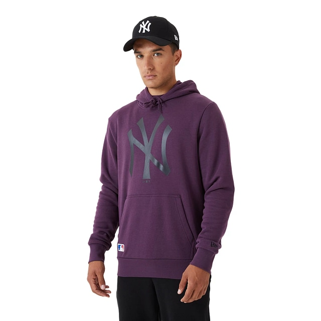 Sudadera New York Yankees MLB Seasonal Morada French Terry Brushed Back Fleece Spring21 | Ny Yankees MLB Seasonal | New Era México