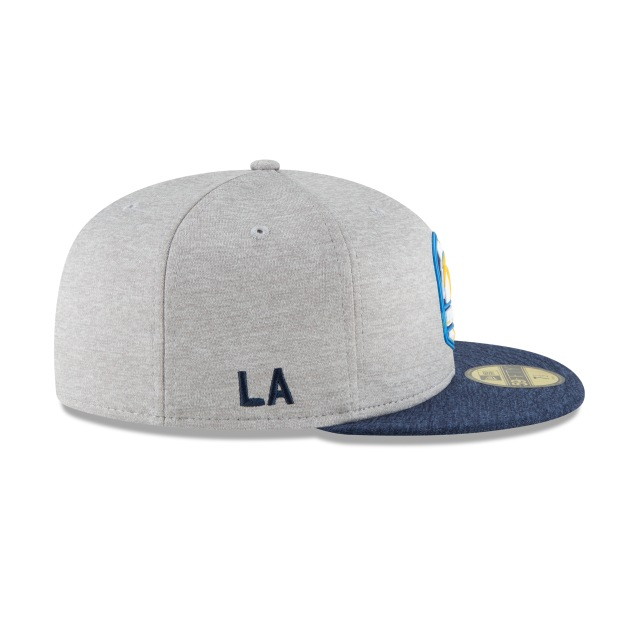 Los Angeles Chargers NFL Sideline Attack 59Fifty Cerrada Vista derecha