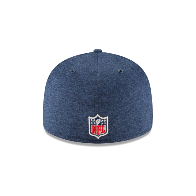 New England Patriots NFL Sideline Defend 2018 59Fifty LP Cerrada Vista trasera