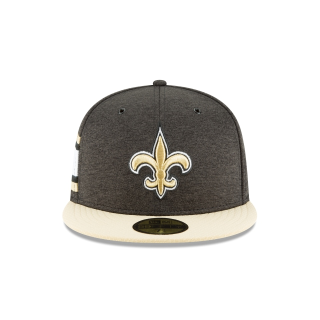 New Orleans Saints NFL Sideline Defend 2018  59Fifty Cerrada Vista frontal
