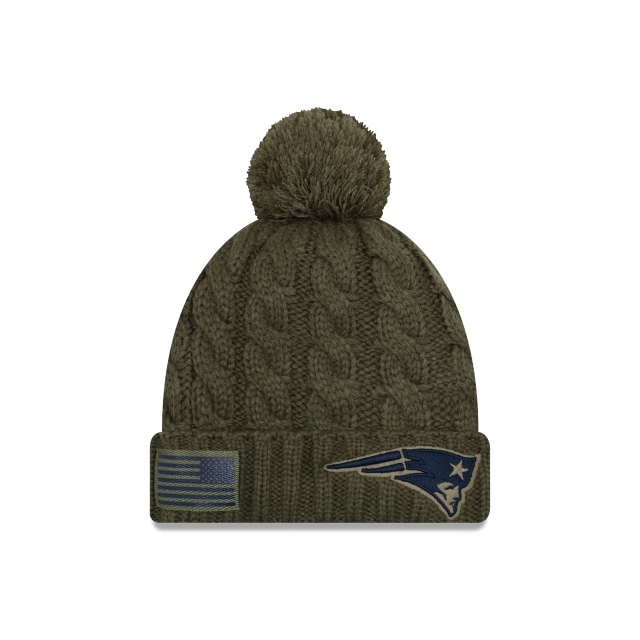 New England Patriots Nfl Salute To Service 2018 Mujer Knit | New England Patriots Caps | New Era Cap