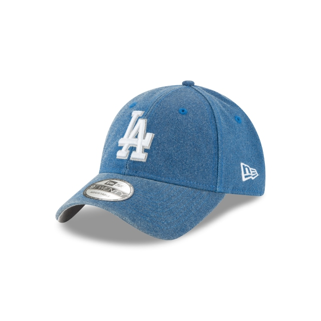 Los Angeles Dodgers Rugged Heather  9Twenty Strapback Vista izquierda tres cuartos