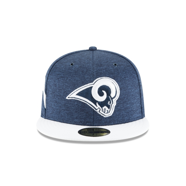 Los Angeles Rams NFL Sideline Defend 2018  59Fifty Cerrada Vista frontal