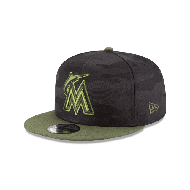 Miami Marlins Memorial Day  9Fifty Snapback Vista izquierda tres cuartos