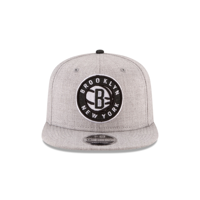Brooklyn Nets Heather Hype Snap  9fifty Of Snapback | Brooklyn Nets Caps | New Era Cap