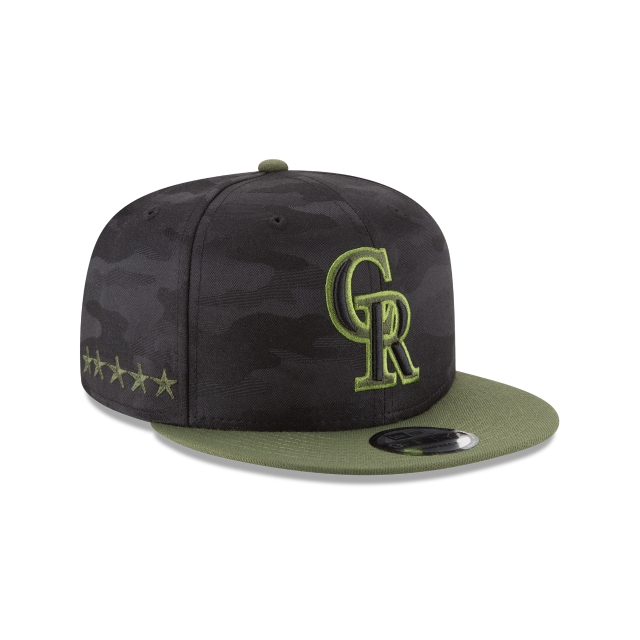 Colorado Rockies Memorial Day  9Fifty Snapback Vista derecha tres cuartos