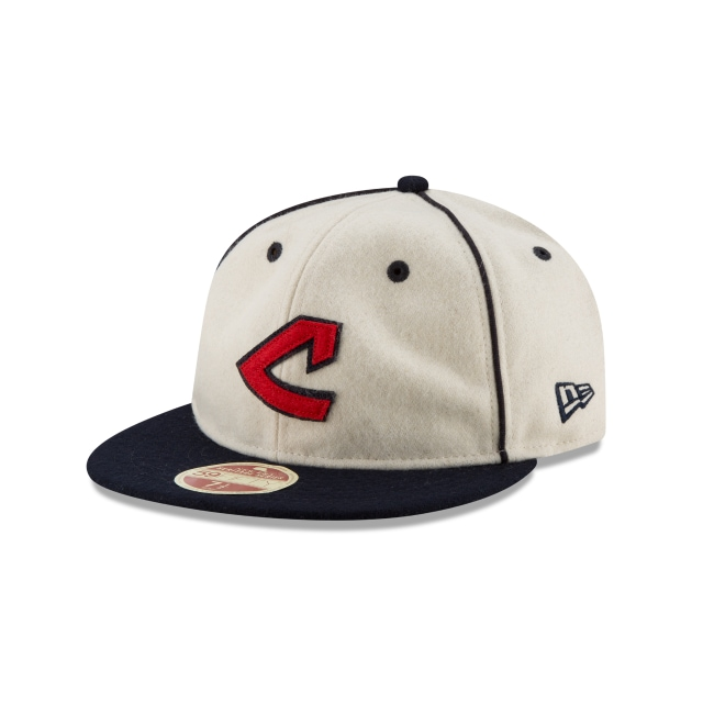 Cleveland Indians Injection Pack Melton Retro  59Fifty Cerrada Vista izquierda tres cuartos