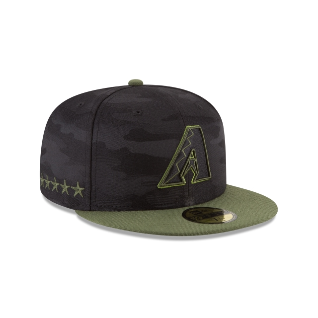 Arizona Diamondbacks Memorial Day  59Fifty Cerrada Vista derecha tres cuartos