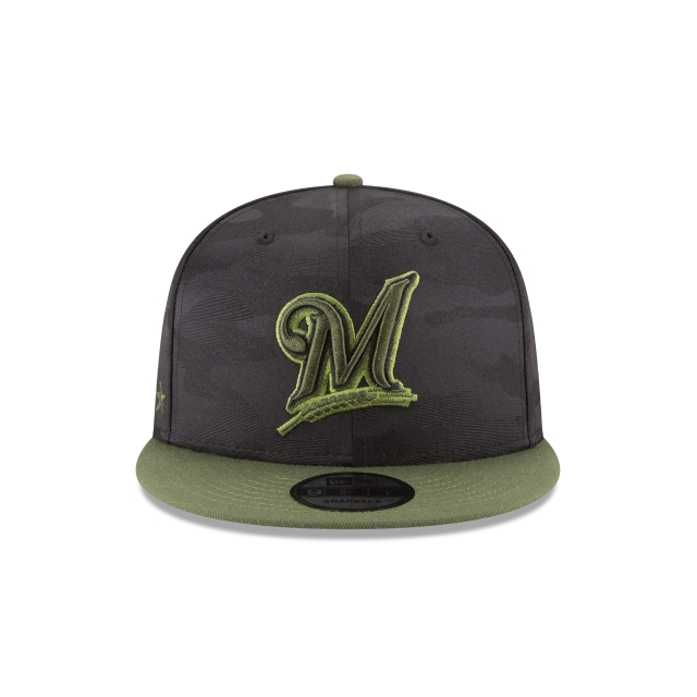 Milwaukee Brewers Memorial Day  9Fifty Snapback Vista frontal
