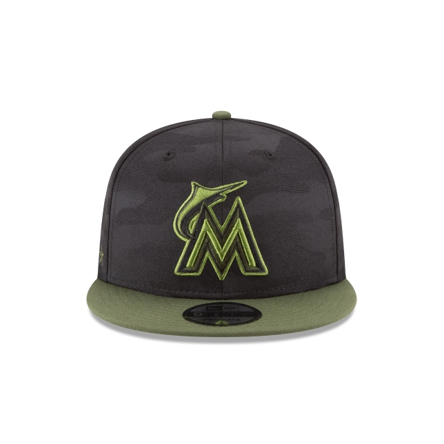 Miami Marlins Memorial Day  9Fifty Snapback Vista frontal