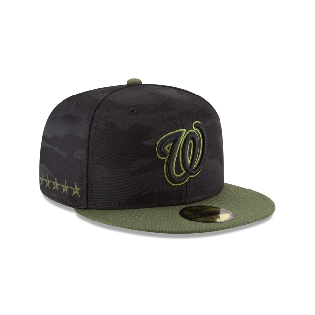 Washington Nationals Memorial Day  59Fifty Cerrada Vista derecha tres cuartos